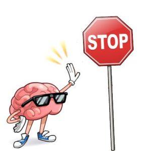 cerebro con parada stop